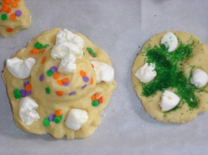 Vacation Cookies with sprinkles and marshmallows